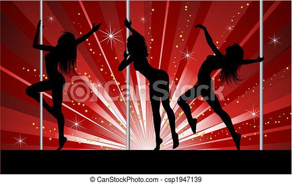 sexy, słup, tancerze - csp1947139