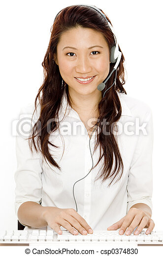 Beautiful asian secretary