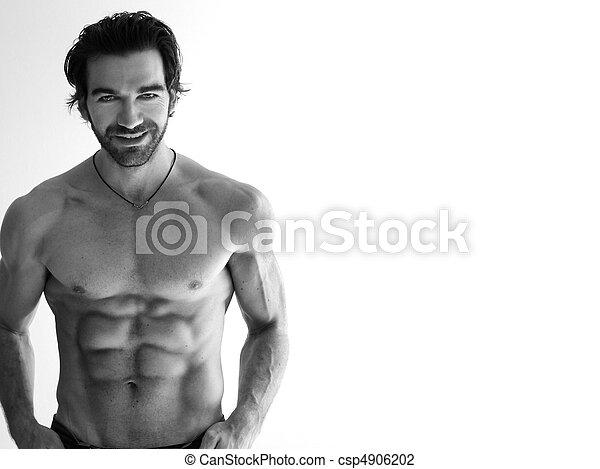Sexy shirtless man - csp4906202