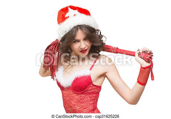 Sexy Snow Maiden With A Whip Sex Toy Santa Girl Csp31625226
