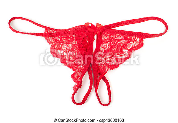 01fa7d324 Sexy transparent panties isolated on white background.