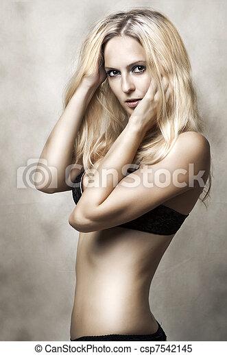 d729408c450 Sexy underwear female model. fashion portrait of young beautiful ...