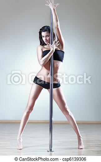 sexy, vrouw, jonge - csp6139306