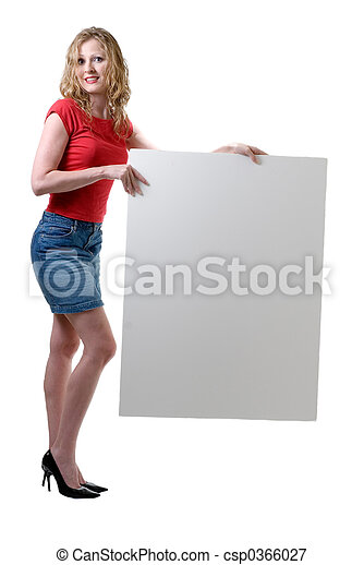 Sexy Girl Holding Sign