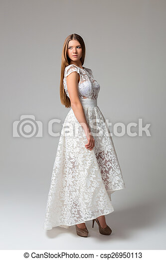 Sexy woman in dress - csp26950113