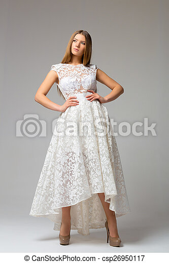 Sexy woman in dress - csp26950117