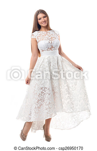 Sexy woman in dress - csp26950170