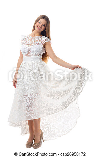 Sexy woman in dress - csp26950172