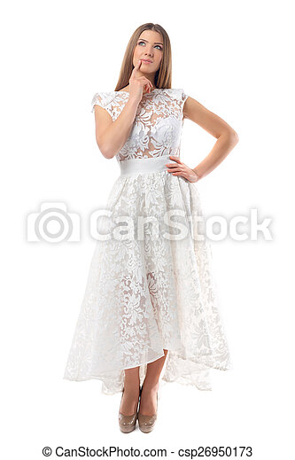 Sexy woman in dress - csp26950173