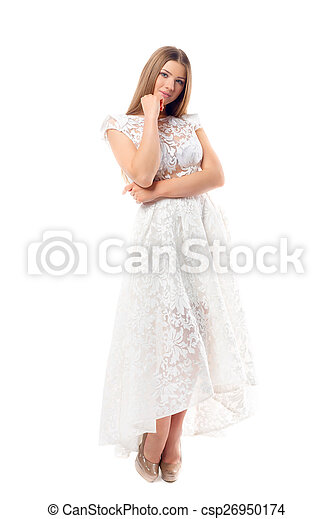 Sexy woman in dress - csp26950174