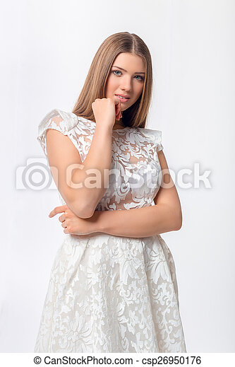 Sexy woman in dress - csp26950176