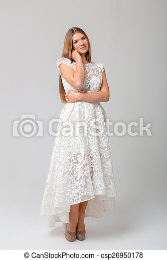 Sexy woman in dress - csp26950178