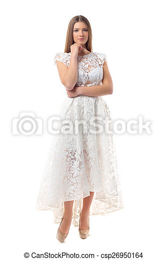 Sexy woman in dress - csp26950164