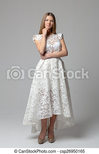 Sexy woman in dress - csp26950165