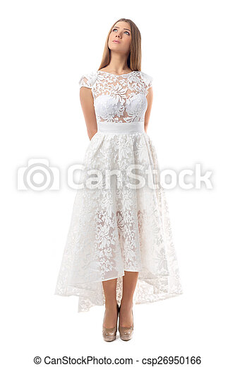 Sexy woman in dress - csp26950166