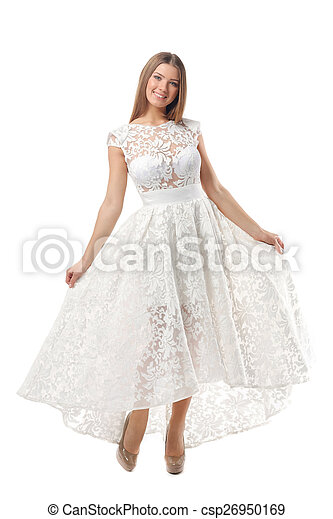 Sexy woman in dress - csp26950169