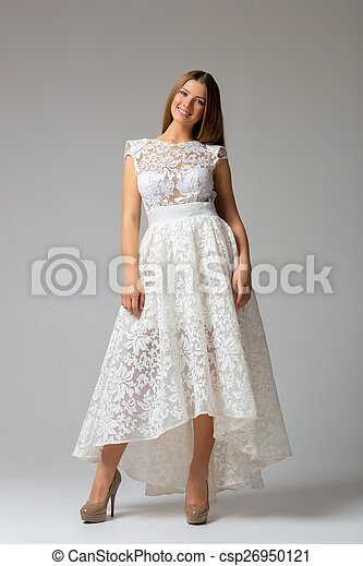 Sexy woman in dress - csp26950121