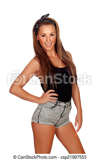 Sexy women in jean shorts