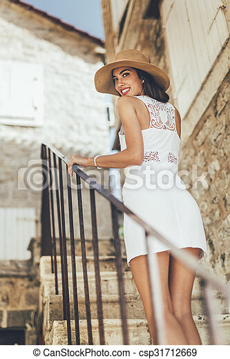 Sexy woman in summer - csp31712669