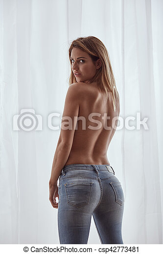 jeans topless blue