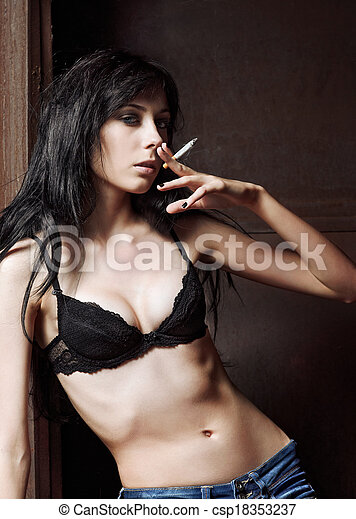 Sexy Cigarette Smoking
