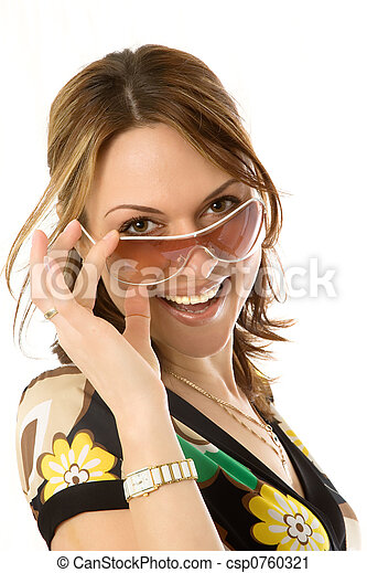 sexy young woman in sunglasses  - csp0760321