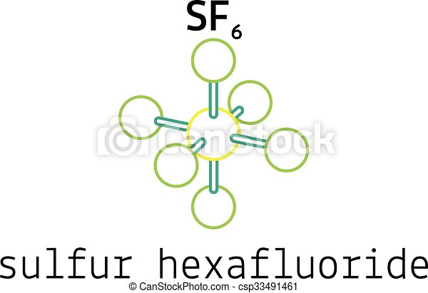 sf6, 硫黄, hexafluoride, 分子 - csp33491461
