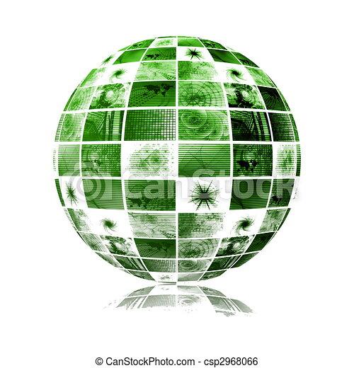 sfera, globale, tecnologia, mondo, media - csp2968066