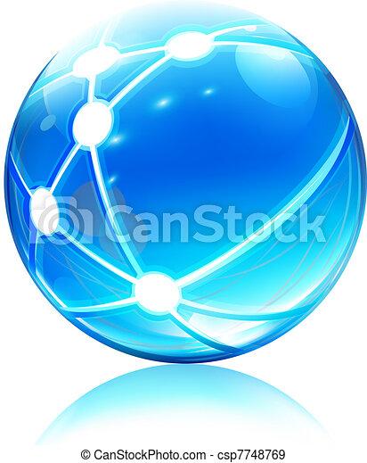 sfera, rete, icona - csp7748769