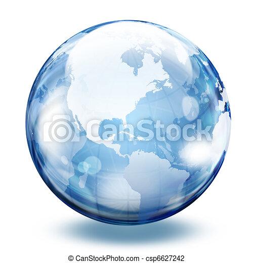 sfera, vetro, mondo - csp6627242