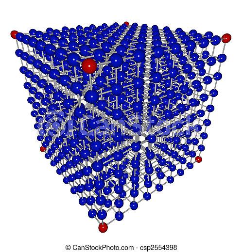 sfere, cubo, collegato, matrice - csp2554398