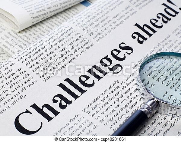 sfide, titolo, giornale, avanti - csp40201861