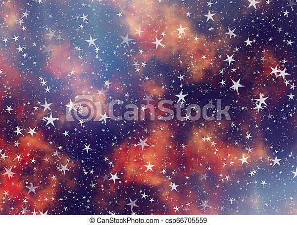 sfondi, molti, volare, cielo, sognante, stelle - csp66705559