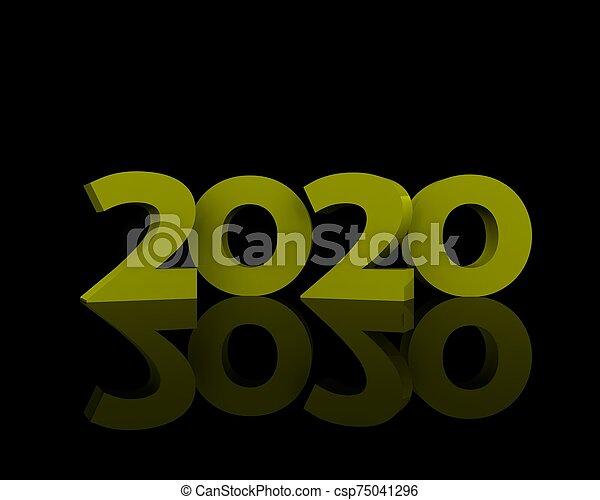 sfondo, 2020, estafar, giallo, nero - csp75041296