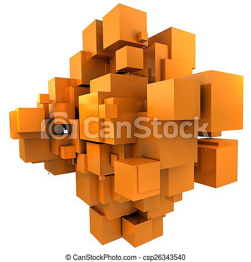 sfondo arancia, cubico - csp26343540