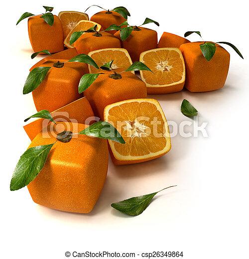 sfondo arancia, cubico - csp26349864