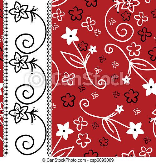 sfondo bianco, striscia, verticale, rosso - csp6093069