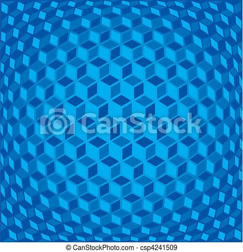Sfondo Blu 3d Blu Astratto Illustrazione Vettore Fondo
