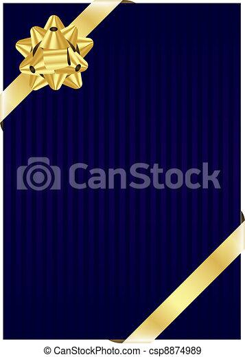 Sfondo Blu Arco Oro Blu Arco Oro Vettore Fondo