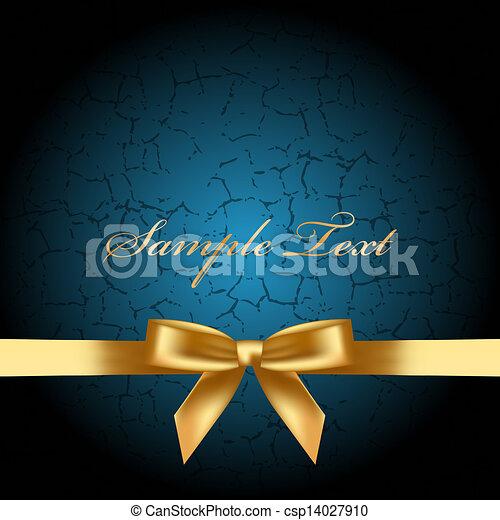 Sfondo Blu Arco Oro Blu Vettore Fondo Arco Oro Clip Art
