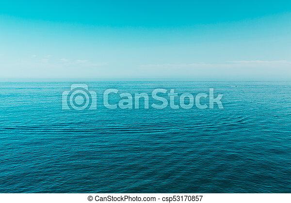 Sfondo Blu Cielo Chiaro Oceano Mare Blu Mare Cielo Chiaro