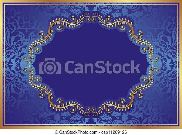 sfondo blu - csp11269126