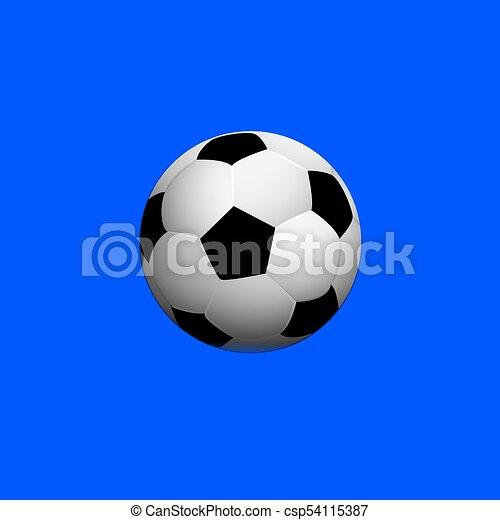 Sfondo Blu Palla Calcio Vettore