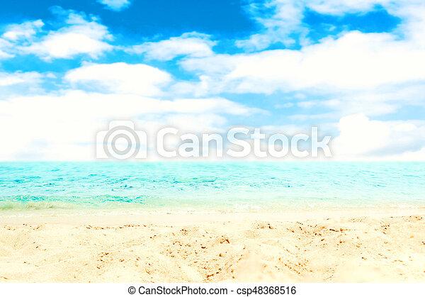 Sfondo Blu Tropicale Mare Sabbia Vacanza Spiaggia Blu Mare