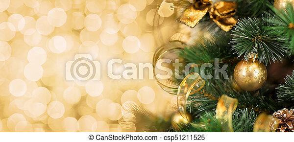 Immagini Natale Oro.Sfondo Dorato Albero Sfocato Ramo Natale