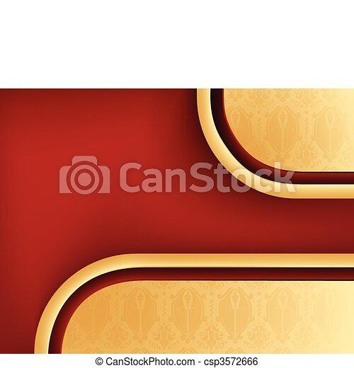 sfondo rosso, seamless, copyspace, damasco - csp3572666