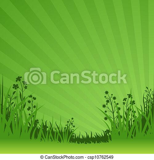 Sfondo Verde Natura Natura Astratto Illustrazione Vettore