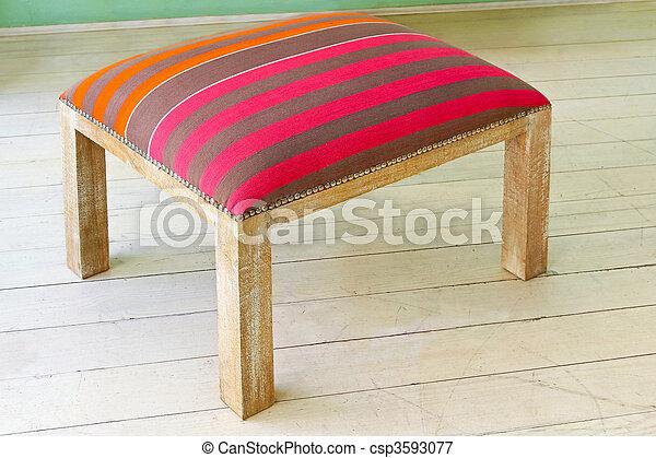Sgabello retro pavimento legno vendemmia sgabello zebrato