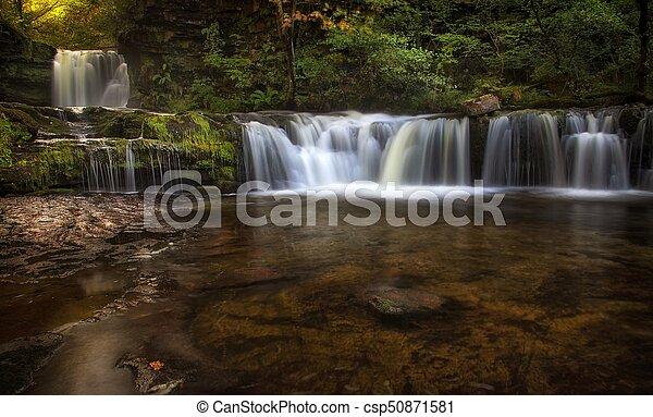 Sgwd Ddwli Isaf waterfalls South Wales - csp50871581