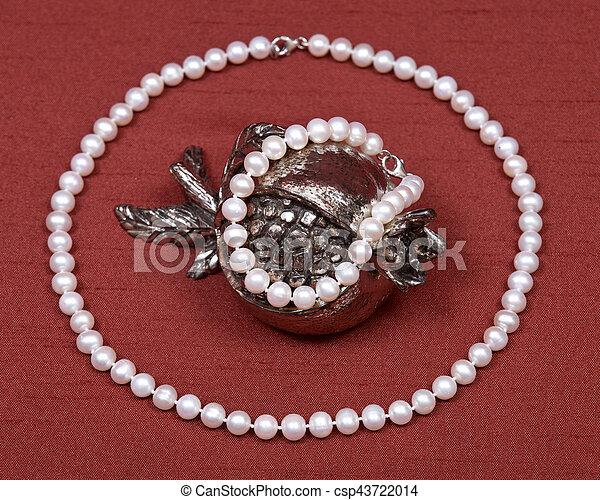 collier perle decoration